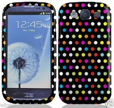 RAINBOW DOTS Snap-On Case Hard Cover for Samsung Galaxy S3 SIII