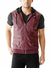 G By Guess Men's Cirino Faux-Leather Vest