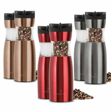 2 PACK Wolfgang Puck Pepper Mill Gravity Salt Pepper Spice Grinder 3 Colors
