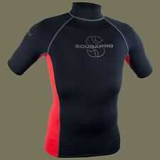Scubapro T-Flex Short Sleeves Men Swim /Snorkel Rashguard - Black/Red