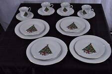 16 Piece Set of Sea Gull Christmas Tree Fine China Dinnerware Jian Shiang