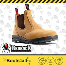 Redback Work Boots UBBA Easy Escape Soft Toe BANANA Elastic Sided Slip On Boot!