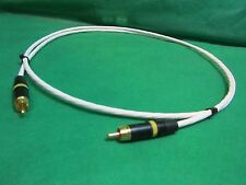 1.5 FT SILVER PLATED AUDIOPHILE INTERCONNECT S/PDIF RCA DIGITAL CABLE.