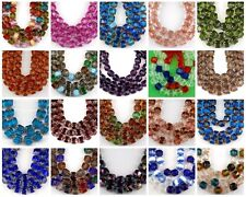 8mm Czech Cathedral Faceted Fire Polished Glass Beads Green Aqua Red Olive 25pc