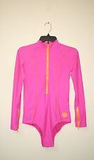 RIP CURL BLOCK OUT SURF SUIT Rashguard  Lg or Sm 1 Piece PINK NWT $59.99