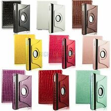 Crocodile Leather 360 Swivel Rotating Magnetic Smart Cover Case For iPad 5 Air
