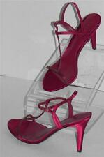 Lauren Ralph Lauren Abita Bordeaux Satin Sandals Shoes