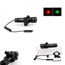 Tactical Red/green Laser Sight+Remote Pressure Switch Metal 20 mm mount for Gun