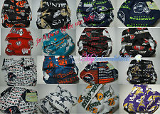 NFL,NCAA, Pocket Cloth Diaper/Mulitcolor/Nappy for Infant,Preemie,Baby &Toddler