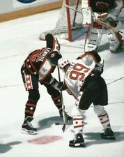 NHL Hockey Wayne Gretzky and Mario Lemieux All-Star Face Off Photo Picture
