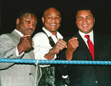 Boxing Legends Joe Frazier, George Foreman and Muhammad Ali Photo Picture