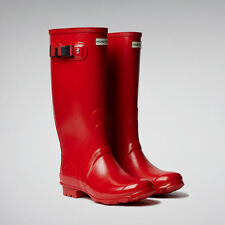 HUNTRESS NEW WIDER CALF COLOR HUNTER RED  RAIN BOOTS WOMEN WFT1008RGL