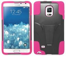 for Samsung Galaxy Note Edge - BLACK & HOT PINK T-Stand Hybrid Cover