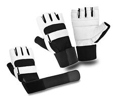 LEATHER PADDED WEIGHT LIFTING GLOVES FITNESS TRAINING EXERCISE GYM SPORTS STRAPS
