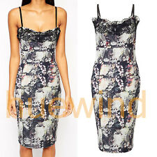 Sexy Summer Women Sleeveless Party Evening Cocktail Casual Floral Print Dress