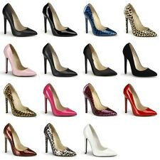 PLEASER Sexy-20 Pointy Toe Fetish Work Dress Stiletto Heels Pumps - 15 COLOURS
