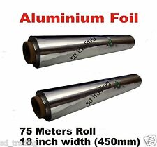 6 x Quality Kitchen Aluminium Foil Catering Tin 450mm x 75m strong packing