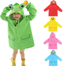 New Children Raincoat Raincover Rainwear Outerwear Cute Kids Baby Cartoon Hooded