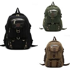 Fashion Men's Casual Canvas Laptop School Bookbag Bag Traveling Hiking Backpack