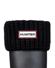 HUNTER HALF CARDIGAN BOOT SOCKS BLACK