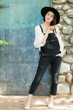 NWT_ ZARA ZIPS AND RIPS DENIM DUNGAREES JUMPSUIT OVERALL_SIZE L_RARE!