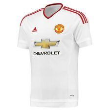 adidas Manchester United 2015-2016 Away Soccer Jersey Brand New White / Red