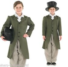 5 Piece Boys Rich Victorian Gentleman + HAT Book Day Fancy Dress Costume Outfit