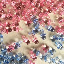 50Pcs Clear Baby Shower Favors Mini Pacifiers Girl Boy Party  Decorations