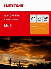 20 -100 Sheets Overhead Projector OHP Film Acetate Clear A4 withStrip Inkjet UK