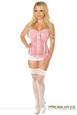 Daisy Corsets Top Drawer Pink Lace Molded Cup Sexy Lingerie Corset Bustier