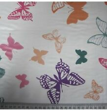 Butterfly PVC tablecloth vinyl oilcloth style fabric half full 1 metre