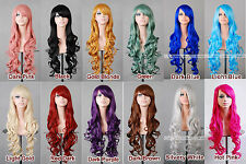 """32"""" 80cm Long Hair Heat Resistant Spiral Curly 12 color Cosplay Wig"""