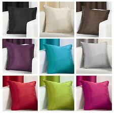 "Plain Faux Silk Cushion Cover 17"" x 17"" / 43 x 43cm"
