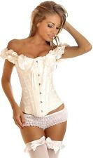Daisy Corsets Embroidered Peasant Top Sexy Lingerie Corset Bustier