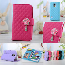 Flip Stand PU Cute Wallet Leather Card Case Cover Skins For Samsung Galaxy Phone