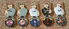 DODGERS GIANTS RED SOX YANKEES CARDINALS RETRO WORLD SERIES CHAMPIONS LAPEL PINS