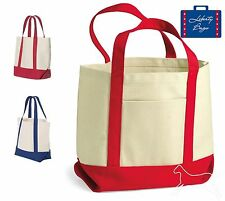 Liberty Bags - Seaside Small Cotton Canvas Boater Tote - 8867