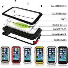 Shockproof Aluminum Glass Metal Case Cover for iPhone SE 6 6s & Plus