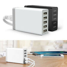 5 Port 40W Smart Multi USB Charger Family-Sized Desktop Universal 5V 8A Travel