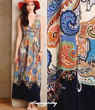 NEW Anthropologie Vizcaya Maxi Dress by Maeve $188 sz 0 4 Cross front Beautiful