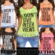 NEW SEXY LADIES CASUAL funky print TOPS S M L XL shop online HOT WOMENS T SHIRTS