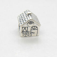 Authentic Genuine S925 Silver Home Sweet Home House CHARM Bead Holiday gifts