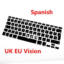 Spanish UK EU Keyboard Cover Skin for Apple Macbook Air Pro Retina MAC 13 15 17