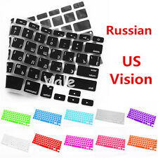 Russian US Vision Keyboard Cover for Apple Macbook Air Pro Retina MAC 13 15 17