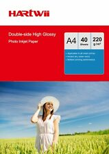 40 -200 Sheets A4 220Gsm Double Side High Glossy Photo Inkjet Paper UK Hartwii