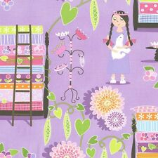 Princess and the Pea Lavender Michael Miller 100% Cotton FQ 1/2 Full Metre