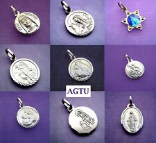 YOU PICK SAINT PENDANT Sterling Silver 925 Saints Religious Patron Medal Pendant