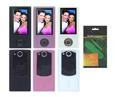 Soft Skin Cover Case and Screen Protector for Sony Bloggie Duo Camera MHS-FS2