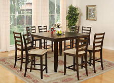 "54"" SQUARE FAIRWINDS COUNTER HEIGHT PUB DINING TABLE SET in CAPPUCCINO"