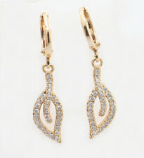 Red Stud Earrings with Swarovski Element in 18k Gold GF or White Gold GF, 12 mm
